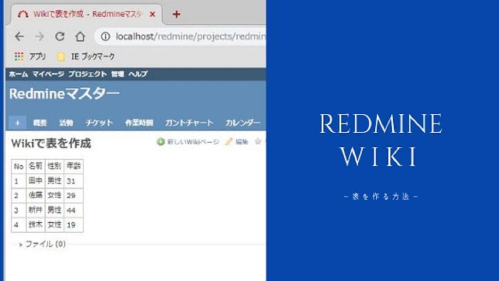 Redmineの表の書き方まとめ(ヘッダ、結合、改行などをWikiで解説)