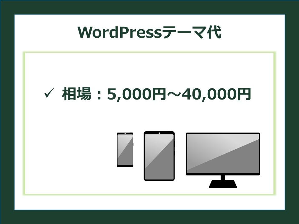 WordPressテーマの相場